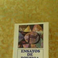 Libros de segunda mano: ENSAYOS DE POETICA ROMAN JAKOBSON FONDO DE CULTURA ECONOMICA. Lote 47485035