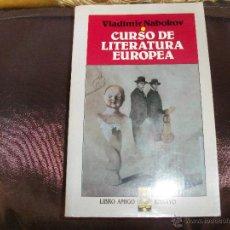 Libros de segunda mano: CURSO DE LITERATURA EUROPEA.. Lote 48491209