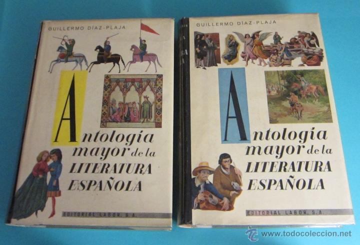 Libros de segunda mano: ANTOLOGÍA MAYOR DE LA LITERATURA ESPAÑOLA. TOMO I -S. X - XV. TOMO II - S. XVI. GUILLERMO DÍAZ-PLAJA - Foto 2 - 48586585