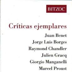 Libros de segunda mano: CRITICAS EJEMPLARES. PALMA DE MALLORCA. BITZOC. 1986.. Lote 169461710