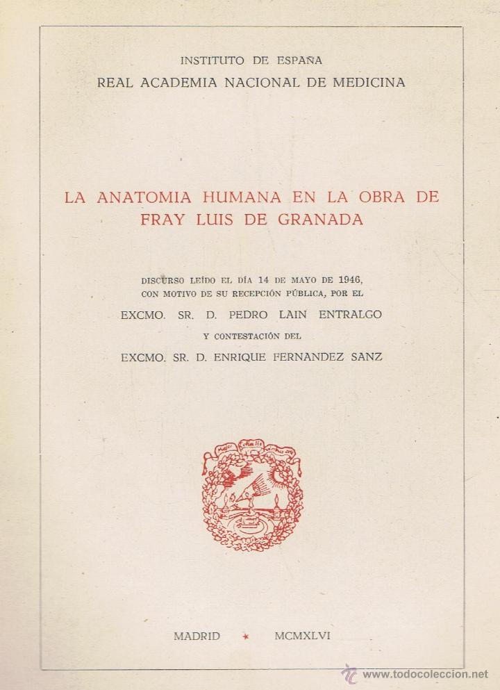 la anatomía humana en la obra de fray luis de g - Comprar Libros de ...