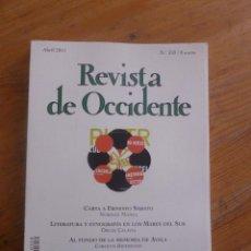 Libros de segunda mano: REVISTA DE OCCIDENTE. ABRIL 2011 N 359 CARTA A ERNESTO SABATO. Lote 49922928