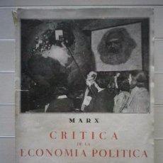 Libros de segunda mano: C. MARX- CRÍTICA DE ECONOMÍA POLÍTICA SEGUIDO DE MISERIA DE LA FILOSOFÍA- LIBRERÍA BERGUA- ENVÍO 1€. Lote 50817378