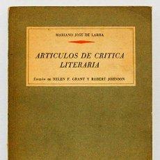 Libros de segunda mano - Larra, Mariano José: Artículos de crítica literaria (Anaya) (cb) - 53496669