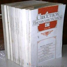 Libros de segunda mano: LOTE DE 11 CUADERNOS HISPANOAMERICANOS DE MADRID, CORRESPONDIENTES AL AÑO 1990 COMPLETO. Lote 43775418