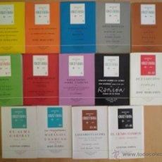 Libros de segunda mano: RENUEVOS DE CRUZ Y RAYA, COLECCIÓN DE 18 NÚMEROS EN 14 VOLÚMENES, ED. CRUZ DEL SUR, 1961 A 1965. Lote 54006141