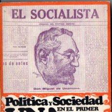 Libros de segunda mano: PÉREZ DE LA DEHESA : POLÍTICA Y SOCIEDAD EN EL PRIMER UNAMUNO (CIENCIA NUEVA, 1966). Lote 54058306