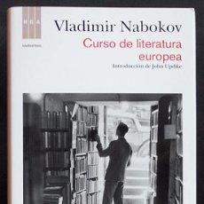 Libros de segunda mano: CURSO DE LITERATURA EUROPEA - VLADIMIR NABOKOV - RBA (2012) TAPA DURA NUEVO. Lote 54102398