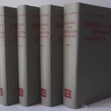 Libros de segunda mano: VALBUENA, ÁNGEL: HISTORIA DE LA LITERATURA ESPAÑOLA (ED. COMPLETA EN 4 VOLS.) (GUSTAVO GILI) (CB). Lote 54495718