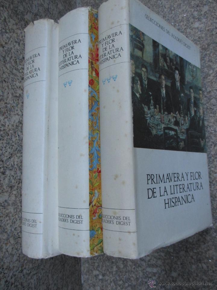 PRIMAVERA Y FLOR DE LA LITERATURA HISPANICA - DAMASO ALONSO Y VV.AA, 3 TOMOS DE 4, 1966 + INFO (Libros de Segunda Mano (posteriores a 1936) - Literatura - Ensayo)