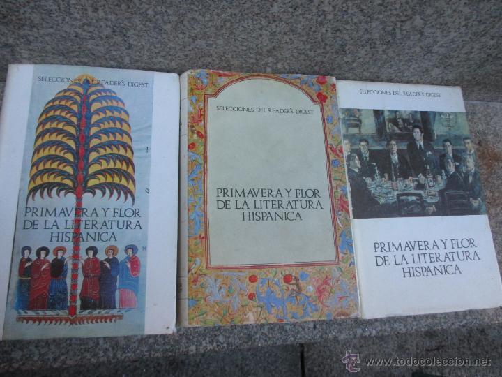 Libros de segunda mano: PRIMAVERA Y FLOR DE LA LITERATURA HISPANICA - DAMASO ALONSO Y VV.AA, 3 TOMOS DE 4, 1966 + INFO - Foto 2 - 54563260