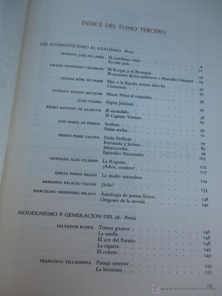 Libros de segunda mano: PRIMAVERA Y FLOR DE LA LITERATURA HISPANICA - DAMASO ALONSO Y VV.AA, 3 TOMOS DE 4, 1966 + INFO - Foto 6 - 54563260