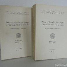 Libros de segunda mano: PRIMERAS JORNADAS DE LENGUA Y LITERATURA HISPANOAMERICANA TOMO X, 1 Y 2. VER FOTOGRAFIAS ADJUNTAS.. Lote 55138975