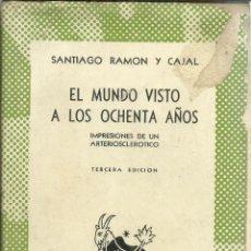 Libros de segunda mano: EL MUNDO VISTO A LOS OCHENTA AÑOS. GREGORIO MARAÑÓN. ESPASA-CALPE. MADRID. 1944. Lote 56115407