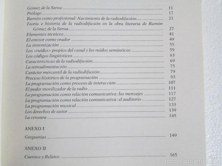 Libros de segunda mano: RADIORRAMONISMO. J. AUGUSTO VENTIN PEREIRA. ANTOLOGIA Y ESTUDIO DE TEXTOS RADIOFONICOS R.GOMEZ SERNA - Foto 9 - 56234171