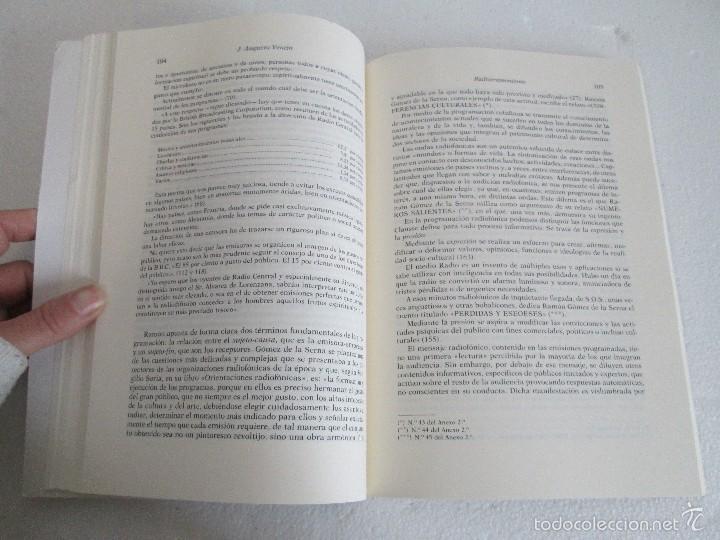 Libros de segunda mano: RADIORRAMONISMO. J. AUGUSTO VENTIN PEREIRA. ANTOLOGIA Y ESTUDIO DE TEXTOS RADIOFONICOS R.GOMEZ SERNA - Foto 13 - 56234171