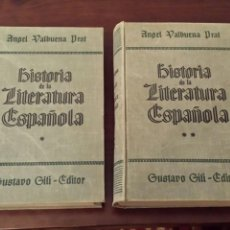Libros de segunda mano: HISTORIA DE LA LITERATURA ESPAÑOLA, ANGEL VALBUENA PRAT, 1937. Lote 56747936