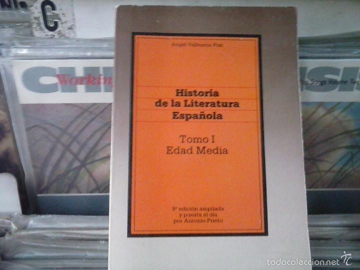 HISTORIA DE LA LITERATURA ESPAÑOLA,TOMO 1 EDAD MEDIA,ANGEL BALBUENA PRAT (Libros de Segunda Mano (posteriores a 1936) - Literatura - Ensayo)