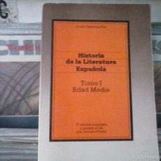 Libros de segunda mano: HISTORIA DE LA LITERATURA ESPAÑOLA,TOMO 1 EDAD MEDIA,ANGEL BALBUENA PRAT. Lote 56933567