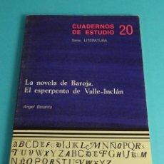 Libros de segunda mano: LA NOVELA DE BAROJA. EL ESPERPENTO DE VALLE-INCLÁN. A.BASANTA.SERIE:LITERATURA. CUADERNOS ESTUDIO 20. Lote 56981719