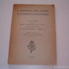 Libros de segunda mano: EL SENTIMIENTO LÍRICO MATERNO EN LA PINTURA DE OVIDIO MURGUÍA. RM75124. . Lote 57399595