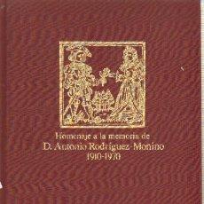 Libros de segunda mano: HOMENAJE A LA MEMORIA DE D. ANTONIO RODRIGUEZ-MOÑINO 1910-1970. EN-106. Lote 94193034