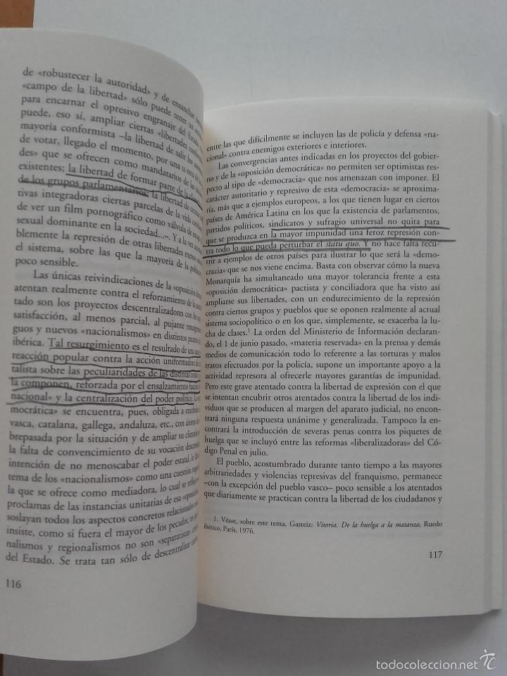 Libros de segunda mano: POR UNA OPOSICION QUE SE OPONGA - JOSE MANUEL NAREDO - ED. ANAGRAMA - Foto 4 - 57608403