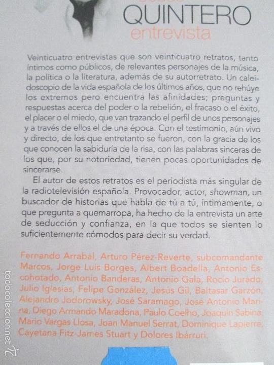 Libros de segunda mano: JESUS QUINTERO. ENTREVISTA. EDICION AGUILAR. 2007. VER FOTOGRAFIAS ADJUNTAS - Foto 17 - 57672499
