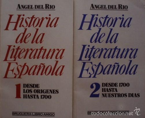 HISTORIA DE LA LITERATURA ESPAÑOLA VOLUMEN 1 Y 2/ÁNGEL DEL RÍO - BRUGUERA (Libros de Segunda Mano (posteriores a 1936) - Literatura - Ensayo)