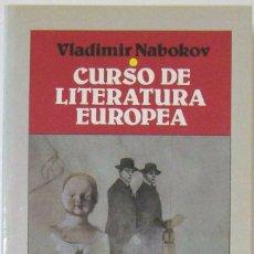 Libros de segunda mano: VLADIMIR NABOKOV - CURSO DE LITERATURA EUROPEA. EDICIONES B, 1987.. Lote 57996411