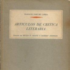 Libros de segunda mano - BIBLIOTECA ANAYA. Nº 30. ARTICULOS DE CRÍTICA LITERARIA. MARIANO JOSÉ DE LARRA. MADRID 1964. - 58330839