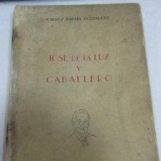 Libros de segunda mano: JOSE DE LA LUZ Y CABALLERO. CARLOS RAFAEL RODRIGUEZ. LA HABANA. EDICION DE LA REVISTA FUNDAMENTOS. Lote 58390692