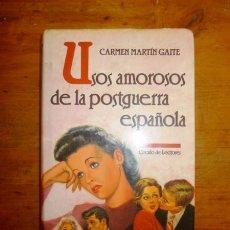 Libros de segunda mano: MARTÍN GAITE , CARMEN. USOS AMOROSOS DE LA POSTGUERRA ESPAÑOLA. Lote 58436392