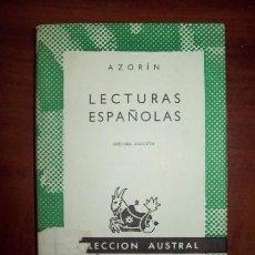 Libros de segunda mano: AZORÍN. JOSÉ MARTÍNEZ RUIZ. LECTURAS ESPAÑOLAS. (AUSTRAL ; 36). Lote 58854161