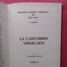 Livres d'occasion: LA CANTABRIA VINDICADA Y DEMOSTRADA, HIPOLITO DE OZAETA, 1988,FACSIMIL NUMERADO. Lote 61614992