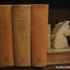 Libros de segunda mano: HISTORIA DE LA LITERATURA ESPAÑOLA, ALBORG, JUAN LUIS, GREDOS ED, 3 TOMOS COMPLETA. Lote 110192882