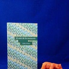 Libros de segunda mano: ENVÍO GRATIS. EL ARTE DE LA MEMORIA. JULIÁN GÁLLEGO. ZARAGOZA: CIRCO KRONE, SEMANA SANTA. Lote 65693914