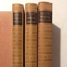 Libros de segunda mano: MEMORIAL DE SANTA ELENA. 3 VOL. (COMPLETA) 1944 CONDE DE LAS CASAS TRADUCE JUAN G. DE LAUCES . Lote 67636045