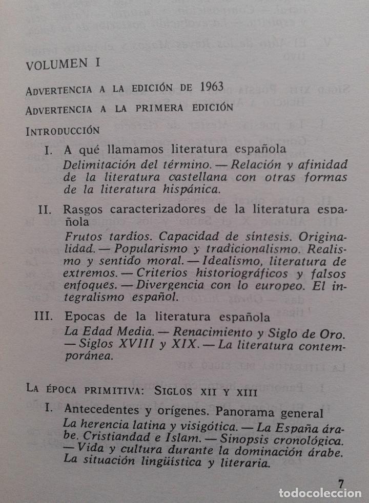 Libros de segunda mano: Historia de la Literatura Española Volumen 1 y 2/Ángel del Río - Bruguera - Foto 2 - 57722785