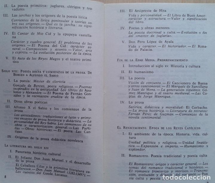 Libros de segunda mano: Historia de la Literatura Española Volumen 1 y 2/Ángel del Río - Bruguera - Foto 3 - 57722785