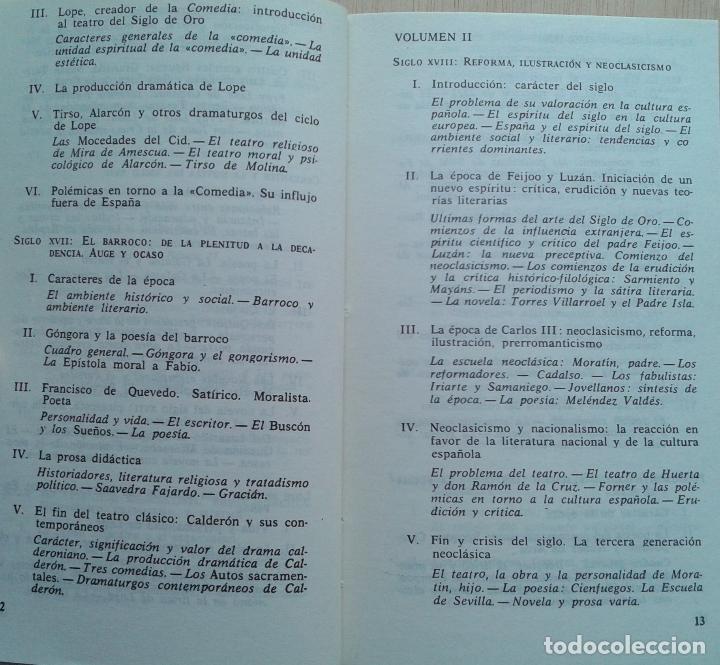 Libros de segunda mano: Historia de la Literatura Española Volumen 1 y 2/Ángel del Río - Bruguera - Foto 5 - 57722785