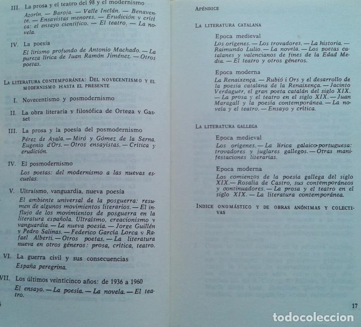 Libros de segunda mano: Historia de la Literatura Española Volumen 1 y 2/Ángel del Río - Bruguera - Foto 7 - 57722785
