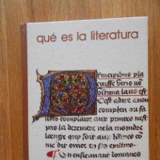 Libros de segunda mano: QUE ES LA LITERATURA, BIBLIOTECA SALVAT 1975. Lote 77105569