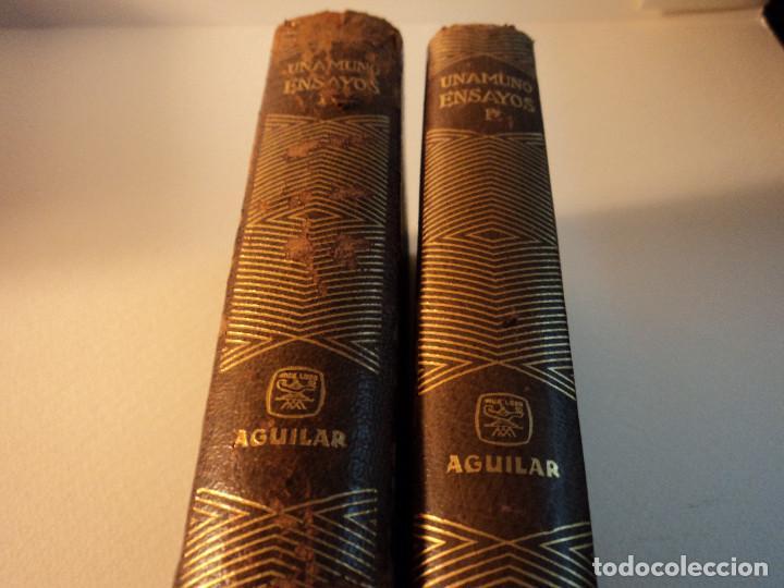 ENSAYOS 2T POR MIGUEL DE UNAMUNO DE ED. AGUILAR EN MADRID 1964 6ª EDICIÓN (Libros de Segunda Mano (posteriores a 1936) - Literatura - Ensayo)