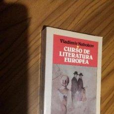 Libros de segunda mano: CURSO DE LITERATURA EUROPEA. VLADIMIR NABOKOV. EDICIONES B. BUEN ESTADO. . Lote 82528136