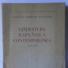 Libros de segunda mano: LITERATURA ESPAÑOLA CONTEMPORÁNEA DE GONZALO TORRENTE BALLESTER - 1ª EDICIÓN, AFRODISIO AGUADO, 1949. Lote 85256904