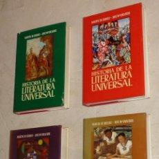 Libros de segunda mano: HISTORIA DE LA LITERATURA UNIVERSAL. MARTÍN DE RIQUER Y JOSÉ Mª VALVERDE. 4 VOLÚMENES. GRAN FORMATO. Lote 87023384