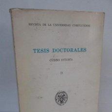 Gebrauchte Bücher - TESIS DOCTORALES CURSO 1973/74. REVISTA UNIVERSIDAD COMPLUTENSE. ANGEL GONZALEZ ALVAREZ.. - 87748968