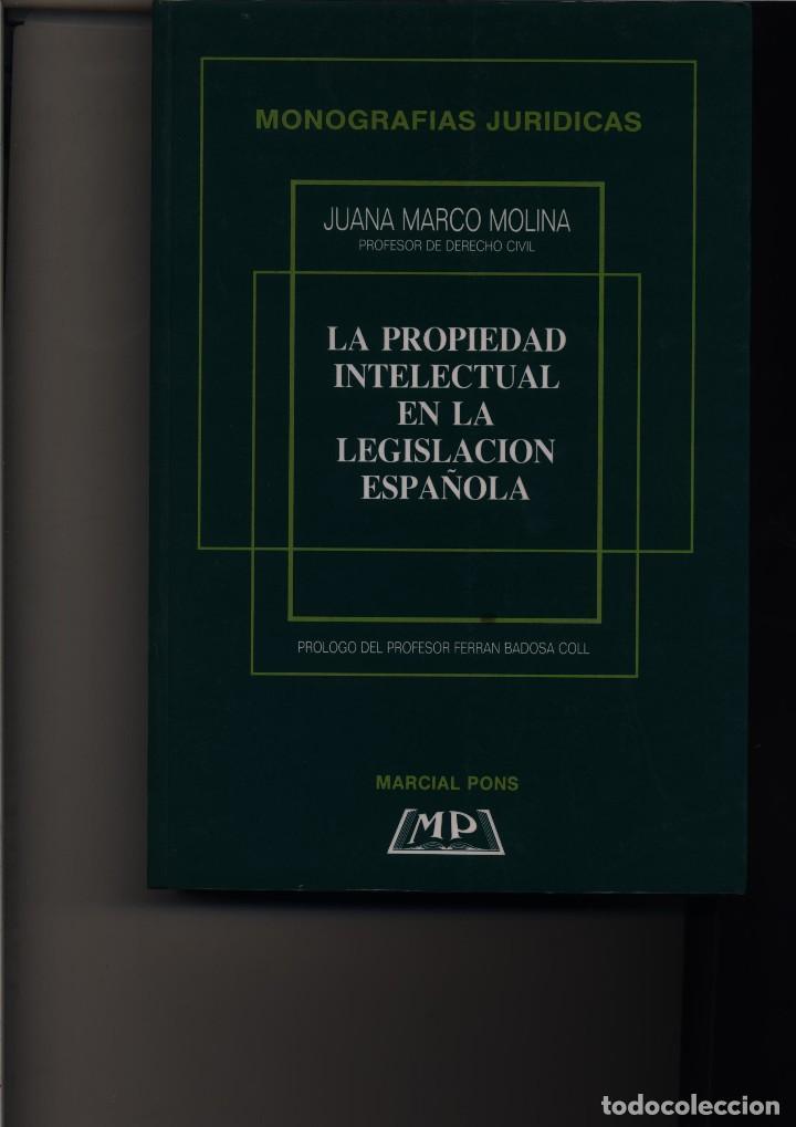 la propiedad intelectual en la legislacion espa - Comprar Libros de ...
