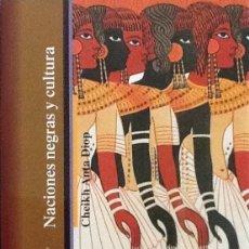 Libros de segunda mano: NACIONES NEGRAS Y CULTURA. Lote 90685965